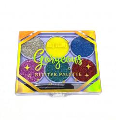 6 Colors Glitter Palette