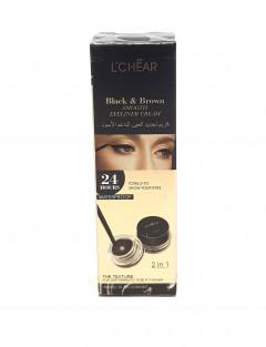 2 in 1 Black & Brown Smooth Eyeliner Cream