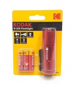 9 LED Flashlight with 3aaa Batteries