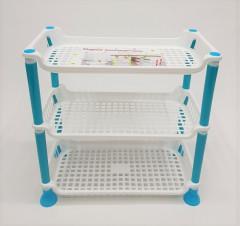 Plastic Multi-purpose Kitchen and Bathroom Organizer Shelf Rack