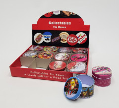 12 Pcs Collectables Tin Boxes  Pack