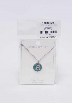 Jewelry set for ladies with the letters B