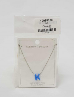 Jewelry set for ladies with the letters K