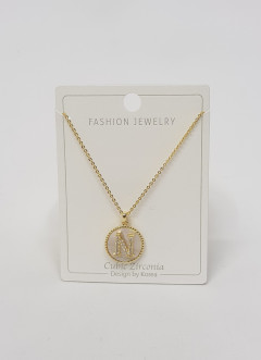 Initial Letter Necklace N