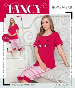 Ladies Turkey Capri Pyjama Set