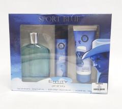 Gift Set 3 Pcs Sport Blue Perfume 100 ML