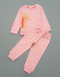 Girls 2 Pcs Long Sleeved Shirt Set