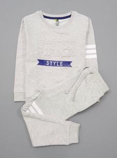 Boys 2 Pcs Long Sleeved Shirt Set