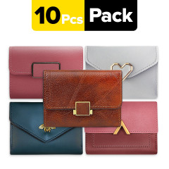 10 PCs assorted wallets 80 AED