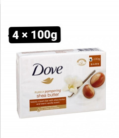 Live Selling Dove Purely Pampering Beauty Cream Bar Shea Butter 4x 100g